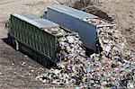 Trucks dumping waste in landfill Stock Photo - Premium Royalty-Free, Artist: Cultura RM, Code: 649-06533604