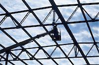 Welder on crane welding roof beam Stock Photo - Premium Royalty-Freenull, Code: 653-06534490