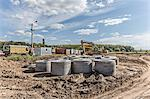 Concrete cylinders on construction site Stock Photo - Premium Royalty-Free, Artist: Arcaid, Code: 653-06534501