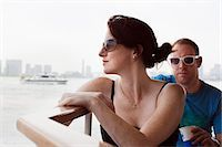 Man and woman on river boat to Asakusa in Tokyo Stock Photo - Premium Royalty-Freenull, Code: 653-06534999