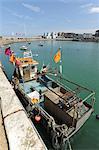 Flags, fishing boat and Turner Contemporary Stock Photo - Premium Royalty-Free, Artist: Hugh Burden, Code: 6106-06535311