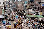 congested & Busy road in daytime,Varanasi
