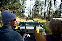POV of man and woman in old Willy's jeep. Stock Photo - Premium Royalty-Freenull, Code: 6106-06535895