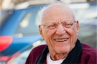 Close up of older man's smiling face Stock Photo - Premium Royalty-Freenull, Code: 614-06536948
