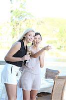 Women admiring scenery outdoors Stock Photo - Premium Royalty-Freenull, Code: 614-06537004