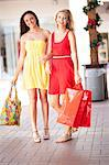 Women carrying shopping bags in mall Stock Photo - Premium Royalty-Free, Artist: Aflo Relax, Code: 614-06537151