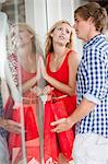 Couple window shopping together Stock Photo - Premium Royalty-Free, Artist: Blend Images, Code: 614-06537349