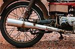 Close up of motorcycle wheel Stock Photo - Premium Royalty-Free, Artist: CulturaRM, Code: 614-06537600