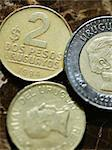 Close up of Uruguayan coins Stock Photo - Premium Royalty-Free, Artist: Blend Images, Code: 614-06537666