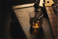 Musical equipment and drink Stock Photo - Premium Rights-Managednull, Code: 859-06537954