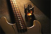 Musical equipment and drink Stock Photo - Premium Rights-Managednull, Code: 859-06537955