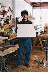 Sculptor holding a white board Stock Photo - Premium Rights-Managed, Artist: Aflo Relax, Code: 859-06537966