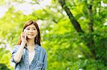 Young woman on the phone Stock Photo - Premium Rights-Managed, Artist: Aflo Relax, Code: 859-06538103