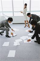 people in panic - Business people picking up papers Stock Photo - Premium Rights-Managednull, Code: 859-06538173