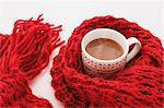 Hot cocoa and red scarf Stock Photo - Premium Rights-Managed, Artist: Aflo Relax, Code: 859-06538187