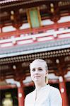 Young woman at Sensoji Temple, Tokyo Prefecture Stock Photo - Premium Rights-Managed, Artist: Aflo Relax, Code: 859-06538245
