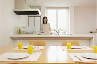 setting kitchen table - Eat in kitchen Stock Photo - Premium Rights-Managednull, Code: 859-06538414