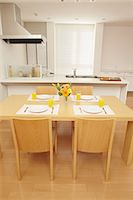 setting kitchen table - Eat in kitchen Stock Photo - Premium Rights-Managednull, Code: 859-06538431