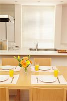 setting kitchen table - Eat in kitchen Stock Photo - Premium Rights-Managednull, Code: 859-06538432