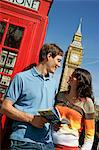 young couple in front of Big Ben, London Stock Photo - Premium Royalty-Free, Artist: Steve McDonough, Code: 618-06538825