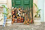 South America, Brazil, Bahia, Salvador, Brazilian percussion instruments including berimbau, atabaque, afoxe, shekere and alfaia for sale on the streets of the Pelourinho Stock Photo - Premium Rights-Managed, Artist: AWL Images, Code: 862-06540837