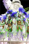 South America, Rio de Janeiro, Rio de Janeiro city, costumed dancers wearing feathers at carnival in the Sambadrome Marques de Sapucai Stock Photo - Premium Rights-Managed, Artist: AWL Images, Code: 862-06540934
