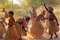 South America, Brazil, Miranda, Terena indigenous people from the Brazilian Pantanal performing a ritual stick dance in grass skirts Stock Photo - Premium Rights-Managednull, Code: 862-06540981