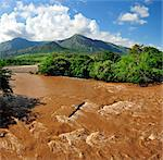 Rio Magdalena in flood, near Girardot, Colombia, South America Stock Photo - Premium Rights-Managed, Artist: AWL Images, Code: 862-06541055