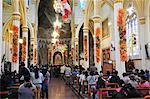 Congregation inside Santuario de las Lajas, Las Lajas, Colombia, South America Stock Photo - Premium Rights-Managed, Artist: AWL Images, Code: 862-06541104