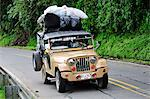 Overloaded Jeep on Road south of Medellin, Colombia,  South America Stock Photo - Premium Rights-Managed, Artist: AWL Images, Code: 862-06541138