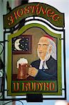 Czech Republic, Boskovice, Central & Eastern Europe, Sign of pub in the Jewish quarter Stock Photo - Premium Rights-Managed, Artist: AWL Images, Code: 862-06541229