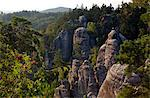 Czech Republic, Bohemia, Prahovskie Region, Particluar rock formations at thePrahovskie Skali natural reserve. Stock Photo - Premium Rights-Managed, Artist: AWL Images, Code: 862-06541238