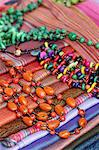 Beads and blankets for sale at Otavalo Market, Ecuador Stock Photo - Premium Rights-Managed, Artist: AWL Images, Code: 862-06541261