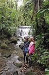 Children exploring a stream in cloudforest at Sacahatmia, Ecuador Stock Photo - Premium Rights-Managed, Artist: AWL Images, Code: 862-06541264