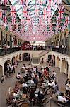 England, London, Covent Garden.  The covered market decorated with Union Jack flags, celebrating HM The Queens Diamond Jubilee. Stock Photo - Premium Rights-Managed, Artist: AWL Images, Code: 862-06541396