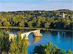 France, Provence, Avignon, Overview of Pont SaintBenezet Stock Photo - Premium Rights-Managed, Artist: AWL Images, Code: 862-06541519