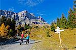 Europe, France, French Alps, Haute Savoie, Chamonix, hiking through autumn colours in Servoz, MR Stock Photo - Premium Rights-Managed, Artist: AWL Images, Code: 862-06541585