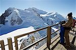 Europe, France, French Alps, Haute Savoie, Chamonix, tourists looking at Mont Blanc MR Stock Photo - Premium Rights-Managed, Artist: AWL Images, Code: 862-06541630