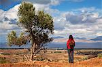 Greece, Kos, Southern Europe. A tourist looking at the scenery. MR Stock Photo - Premium Rights-Managed, Artist: AWL Images, Code: 862-06541831