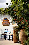 Greece, Kos, Southern Europe. Entrance to a typical greek restaurant Stock Photo - Premium Rights-Managed, Artist: AWL Images, Code: 862-06541835
