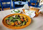 Greece, Kos, Southern Europe. Greek food served in a typical Greek tavern Stock Photo - Premium Rights-Managed, Artist: AWL Images, Code: 862-06541837