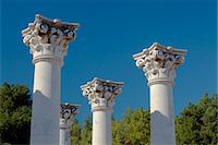 Greece, Kos, Southern Europe. Columns in the Ancient Greek city of Askleipion Stock Photo - Premium Rights-Managednull, Code: 862-06541860