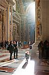 Inside the St. Peters Basilica, Rome, Lazio, Italy, Europe. Stock Photo - Premium Rights-Managed, Artist: AWL Images, Code: 862-06541990