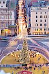Piazza Venezia, Christmas tree, Rome, Lazio, Italy, Europe. Stock Photo - Premium Rights-Managed, Artist: AWL Images, Code: 862-06541999