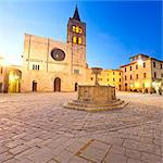 Italy, Umbria, Perugia district, Bevagna. Piazza Silvestri and San Michele Cathedral. Stock Photo - Premium Rights-Managed, Artist: AWL Images, Code: 862-06542056