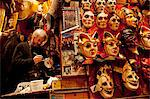 Venice, Veneto, Italy, A mask makers bottega, with Sergio one of the owners and artists of the Bottega dei Mascareri who have made masks for important Hollywood film productions. Stock Photo - Premium Rights-Managed, Artist: AWL Images, Code: 862-06542100