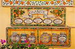 Taormina, Sicily, Italy, Painted tiles advertising granita, the typical sicilian refreshing ice frozen desert Stock Photo - Premium Rights-Managed, Artist: AWL Images, Code: 862-06542131