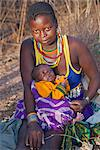 A young Pokot woman with her baby. Stock Photo - Premium Rights-Managed, Artist: AWL Images, Code: 862-06542267