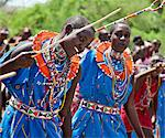 Maasai schoolgirls practise for an inter schools song and dance competition at Magadi. Kenya Stock Photo - Premium Rights-Managed, Artist: AWL Images, Code: 862-06542294