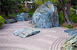 Zen Garden at Japanese Gardens in Larvotto, Principality of Monaco, Europe Stock Photo - Premium Rights-Managed, Artist: AWL Images, Code: 862-06542393